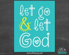 Let Go and Let God - 8x10 Print - Christian Art by JustLovePrints, $12.50