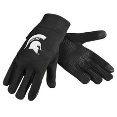 Michigan State Spartans Team Logo Technology Touch Texting Gloves