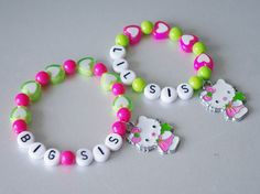 Bracelets for Big and Little Sisters Two Sisters by NadiaBo