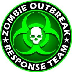 New York Zombie Hunting Permit Sticker Decal Vinyl outbreak response team