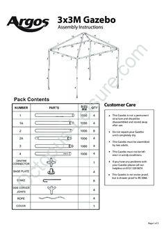 35 best gazebo spare parts images on pinterest cabana gazebo and rh pinterest com Weider Pro 4250 Assembly Manual Manuals for Navepoint 15U Assembly