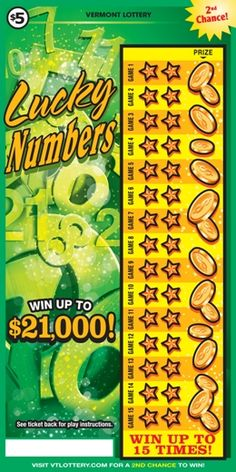 Vermont lottery outstanding prizes for adults
