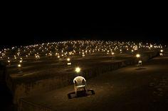 Giancarlo Neri, Gibellina - Cretto di Burri - installation with 1000 chairs on ArtStack #giancarlo-neri #art
