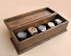 New Personalized Rustic Men's Watch Box for 8 par OurWeddingInvites