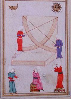 Azimuthal semicircle dh t al samt wa 39 l irtif 39 of taq for Mural quadrant