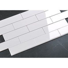 Emser Tile Crema Marfil Marble Bullnose Tile Trim in White Marble Mosaic, Glass Mosaic Tiles, Mosaic Wall, Ceramic Subway Tile, Glass Subway Tile, Peel And Stick Tile, Stick On Tiles, Champs, Tuile