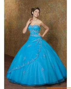 Prom dresses puffy blue