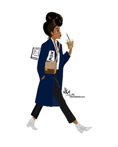 Fast Monday ♀️♀️ #nichollekobi #illustrations