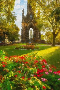 A digital painting that I created from one of my Scott Monument photos. The light on this day was just perfect and I think I captured it accurately in the original photo version of this.  Let me know what you think, just say if you think I should stick to posting photos. Thanks for being here, Graeme