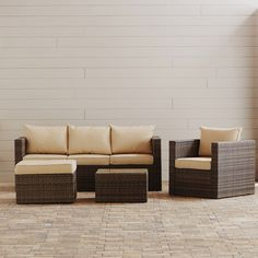 Found it at Wayfair - Azaleh 4 Piece Sectional Seating Group with Cushion