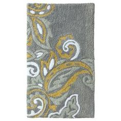 "34""x20"" Textured Paisley Bath Rug - Threshold™ : Target"