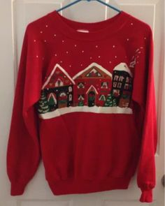 Christmas Sweaters, Graphic Sweatshirt, Sweatshirts, Clothes, Fashion, Outfits, Moda, Clothing, Fashion Styles