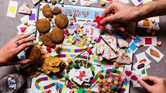 Play an immersive round of the classic board game Candy Land, complete with peppermint bark, peanut brittle and ginger cookies in the Molasses Swamp.