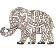 Hattie Carnegie spilla elefante Art Deco strass firmati
