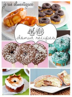 40 Donut Recipe Roundup from alimentageuse.com (some are gluten free and/or can be converted to gluten free)