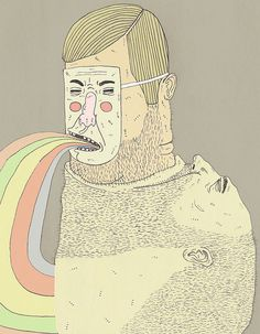 bene rohlmann/from a big man to masked rainbow thrower upper :) Drawing Sketches, Drawings, Weird Art, Children's Book Illustration, Painting & Drawing, Illustrations Posters, Amazing Art, Cool Art, Street Art