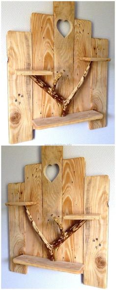 Make up your wall with a stylish and different looking. Join simple shaped wood pallets with the help of glue. You can place any item on this for your ease. It is looking appealing and alluring craft.