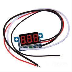 DC+0+To+999mA+Red+LED+Panel+Meter+Mini+Digital+Ammeter+3-30V+Amp+Wire+Lead+Cord+db