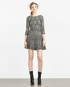 Image 1 of JACQUARD DRESS WITH LOW CUT BACK from Zara