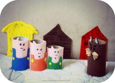 DIY Toilet Paper Roll & Felt Characters: The 3 Little Pigs & the big, bad wolf DIY & Kids Crafts, story time www.macdonaldsplayland.com