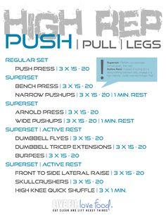 High Rep Push Day
