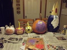 Adventure Time pumpkins!!!  (submitted via Twitter by @bebe_kiddo)