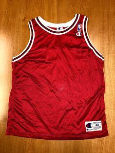 Vintage 1995 - 1998 Chicago Bulls Blank Champion Jersey Size 40 nba finals  hat shirt scottie 7a5156101