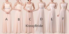 New bridesmaid dress /long bridesmaid dress / Pretty by KissyBride, $105.00