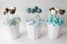 Preparado el pedido de cake pops dos para niños y uno de adultos