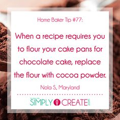 more fantastic baking tips, tricks and ideas, check out Simply Create.For more fantastic baking tips, tricks and ideas, check out Simply Create. Baking Secrets, Baking Tips, Baking Basics, Baking Ideas, Food Facts, Healthy Recipes, Healthy Baking, Cake Pans, Kitchen Hacks