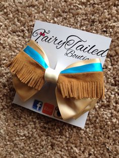 Pocahontas Inspired Fringe Hair Bow by FairyTailedBoutique on Etsy, $8.50