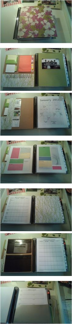 "My completely custom planner! I used publisher to design the pages and ""scrap booked"" the rest."