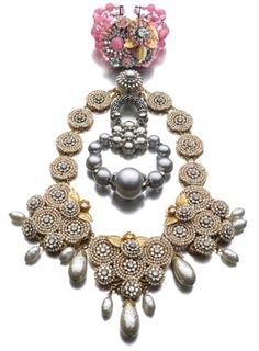 Modern Miriam Haskell Necklace and Bracelet, a Goddess Pioneer when it comes to Costume Jewelry