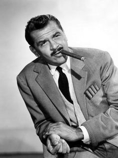Shows To Imbibe In: Ernie Kovacs - The Aspiring Gentleman Vintage Hollywood, Hollywood Glamour, Classic Hollywood, Actors Male, Actors & Actresses, Famous Mustaches, Ernie Kovacs, Smoking Celebrities, Cigar Men