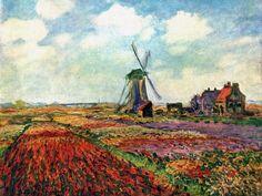 Field Of Tulips In Holland, Monet