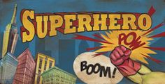 """Vintage style wall art featuring comic book style graphic. This is a 36 x18"""" wall decal! These are the perfect colors."""