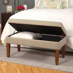 Decorative Textured Linen Storage Bench - Homepop : Target