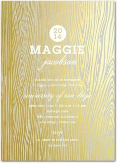 Gleaming Grad Invitations | Stacey Day for Tiny Prints [follow @Stacey McKenzie day boards for more inspiration]