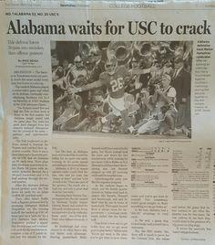 """Alabama waits for USC to crack"" Marlon Humphrey INT for TD - from the Dallas Morning News after Bama's 52 - 6 win in Arlington, Texas. September 3rd 2016. #Alabama #RollTide #Bama #BuiltByBama #RTR #CrimsonTide #RammerJammer #USCvsBAMA"