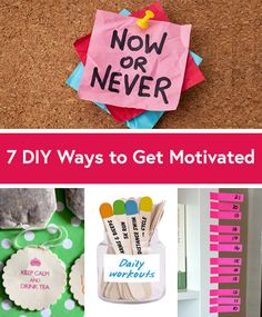 It's easy to scroll through your pins and get distracted from your goals, but these 7 DIY Pinterest projects from @Jennifer Lawson @Jessica Ainscough @Shauna Reid @LaurenConrad.com @Chicisms will give you fun new ways to stay motivated. #motivation