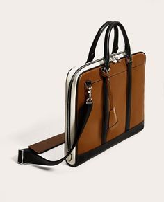 Image 2 of CONTRASTING BRIEFCASE from Zara