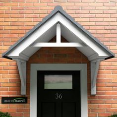 How is a door awning different from a door canopy? Front Door Awning, Door Overhang, Porch Awning, Porch Canopy, Porch Roof, House Canopy, Front Porches, House Entrance, Entrance Doors