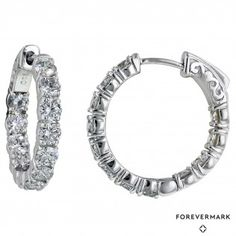 Check out these NEW Forevermark Diamond Hoop Earrings in 18kt White Gold! $9500 ~KSL