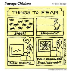 Could there be anything scarier than public speaking about spider abandonment?