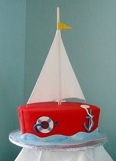 Nautical themed cake.