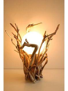 24 Driftwood Furniture Designs That May Inspire You! - Top Craft Ideas Maritime Lichtinszenierung der Sonderklasse, Strandholz-Leuchte SEA ORACLE, Eco-Design Made in Schleswig-Holstein aus handverlesenem Nordsee-Strandholz Driftwood Furniture, Driftwood Lamp, Driftwood Projects, Wood Lamps, Diy Furniture, Furniture Design, Driftwood Ideas, Furniture Stores, Office Furniture