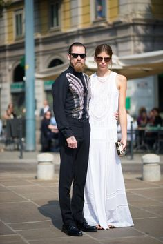 Justin O'Shea + Veronika Heilbrunner / MFW street style