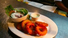 Sweet calamari rings - crispy on the outside and so tender on the inside - you'll love it!