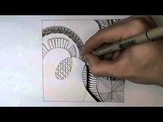 Time lapse video of a zentangle creation which lasts two and a half minutes.  The artist makes it looks so simple but I wonder how long it really took to draw?