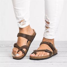 4cee1acd12fd8 Comfortable strappy gladiator leather cute sandals brikenstock plateforme  jamaica flatform wedge sandals #sandals #flat